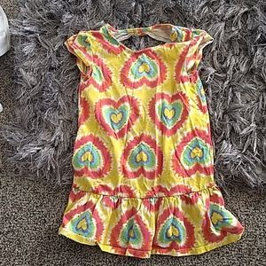 Little Girls Dress Tye Dye Hearts